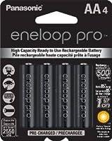 Panasonic Eneloop Pro 2550 mAH (was Sanyo 2500XX) AA Batteries - Eight Batteries with Free Battery Holder