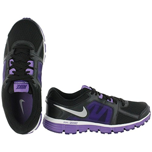 Nike Youth Dual Fusion ST 2 (GS) Running Shoes (3.5Y, Black Metallic)