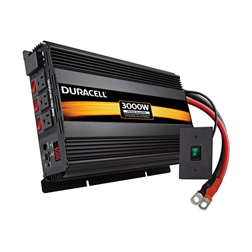 Duracell DRINV3000 Black 3000 W High Powered Inverter (Duracell Mobile Battery Charger)