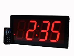 Large Digital Wall Clock - Best Alarm Clock with Remote Control - 4\