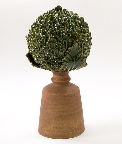 Pinecone Finial - Evergreen ()