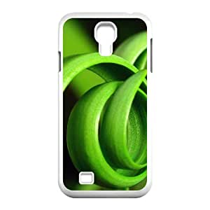 Okaycosama Funny Samsung Galaxy S4 Cases Curly Plant for Women Protective, Phone Case for Samsung Galaxy S4 Mini, [White]