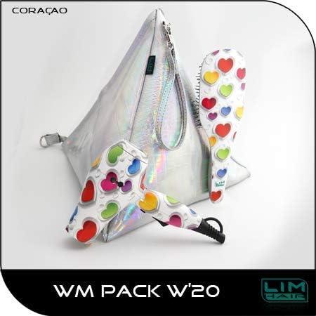Travel pack secador viaje + Bolso-neceser +Cepillo Lim Hair Corazones: Amazon.es: Belleza