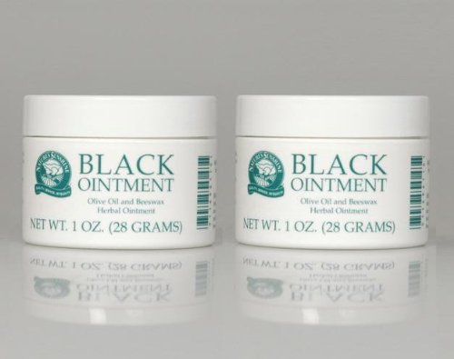 Black Olive Cream - Naturessunshine Black Ointment Olive Oil and Beeswax Herbal Ointment 1 oz. jar (Pack of 2)