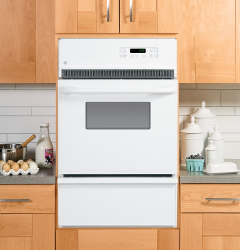 GE JGRP20WEJWW 24″ White Gas Single Wall Oven