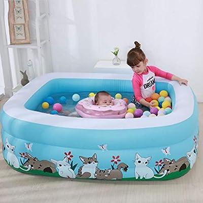 POOooo Piscina Hinchable Rectangular, for niños, Adultos, Familia, Patio, Interior y Exterior con Tela de 150 * 110 * 50 cm (Color : A): Amazon.es: Hogar