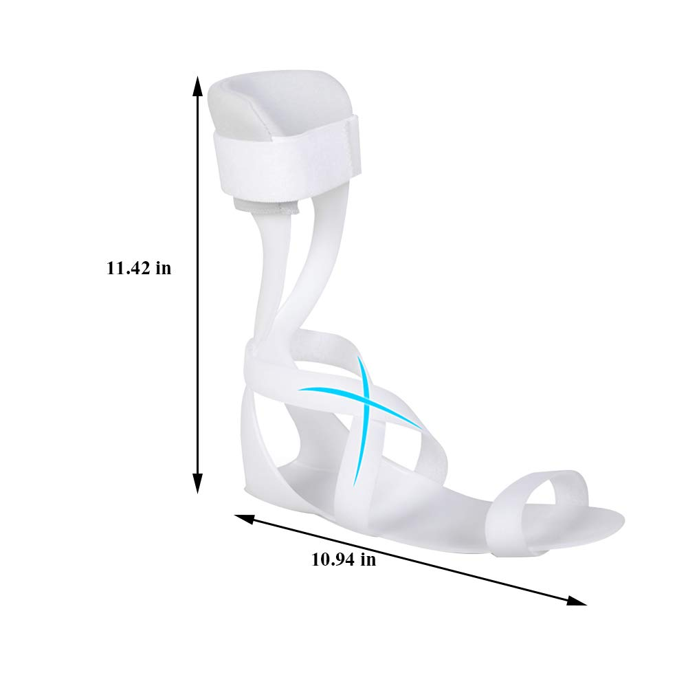 Echaprey Adjustable Swedish Ankle Foot Orthosis (AFO) for Foot and Ankle Support (Left, L) by Echaprey (Image #2)