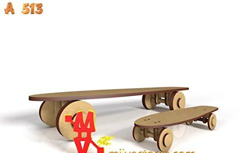 Kit para hacer patinetes porta cupcakes de madera DM para ...