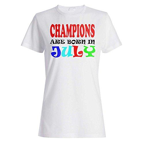 CHAMPIONS SIND IN JULI LUSTIG GEBOREN Damen T-shirt w2f