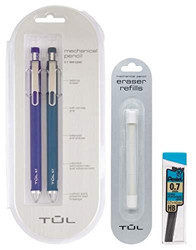 TUL 0.7mm Blue Mechanical Pencils, Eraser Refills & Lead Refills ()