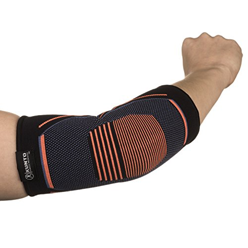 Kunto Fitness Elbow Brace Compression Support Sleeve for Tendonitis, Tennis Elbow, Golf Elbow Treatment – Reduce Joint Pain During Any Activity! (Small) by Kunto Fitness Products (Image #5)