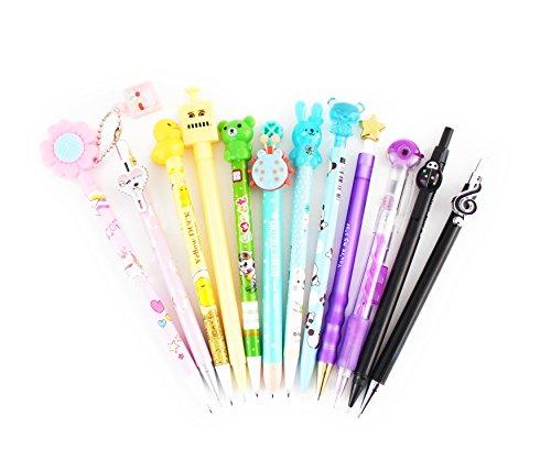 SKKSTATIONERY 12 PCS Mechanical Pencils Set, Cute Cartoon Favor, 12 Different Styles Assorted]()