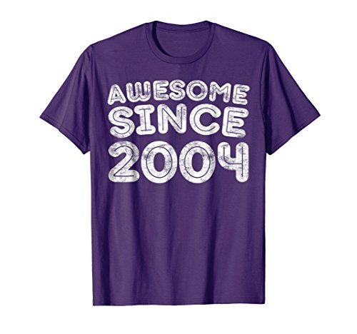Awesome Since 2004 T-Shirt Funny 14th Birthday Gift Shirt