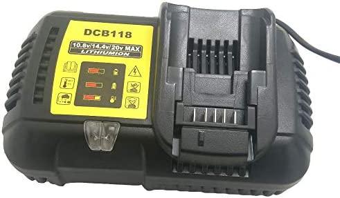 DCB118 para Dewalt 10.8V 12V 14.4V 18V cargador de batería de iones de litio para DCB101 DCB115 DCB107 DCB105 DCB140 para batería de Dewalt DCB200 ...