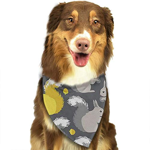 OURFASHION Squirrel Bandana Triangle Bibs Scarfs Accessories Pet Cats Puppies.Size is About 27.6x11.8 Inches (70x30cm). -