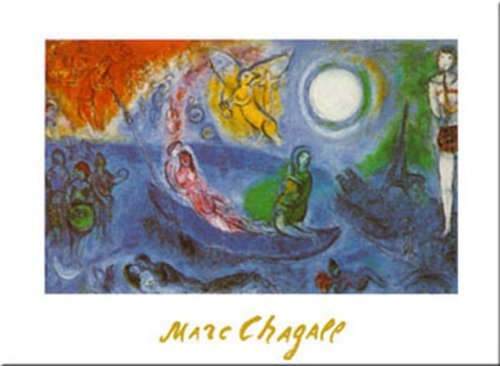 Buyartforless The Concert by Marc Chagall 32x24 Romantic Museum Art Print Poster