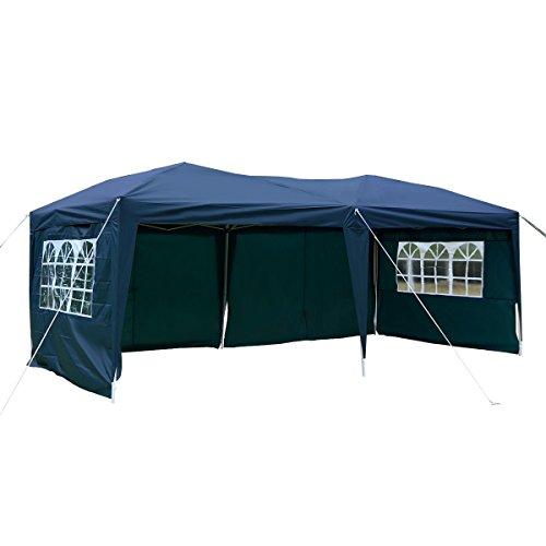 TANGKULA 10'X20' EZ POP UP Tent Gazebo Wedding Party Folding Canopy Carry Bag Cross-Bar (Blue)