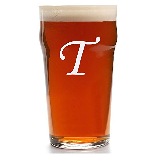 Custom Pub Glass, Personalized English Pub Glasses, Engraved Beer Pub Glass, Initial Beer - Custom Glasses Pub