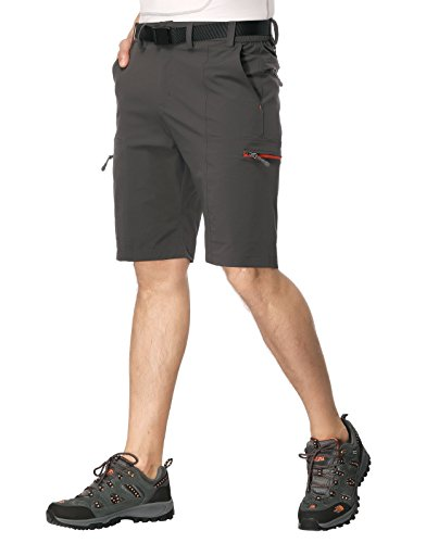 MIERSPORTS Mens Outdoor Cargo Shorts Lightweight Nylon Hiking Shorts, Quick Dry, 10