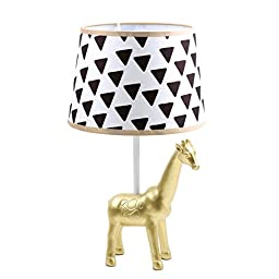 Safari Gold Giraffe Lamp Base and Shade by The Peanut Shell