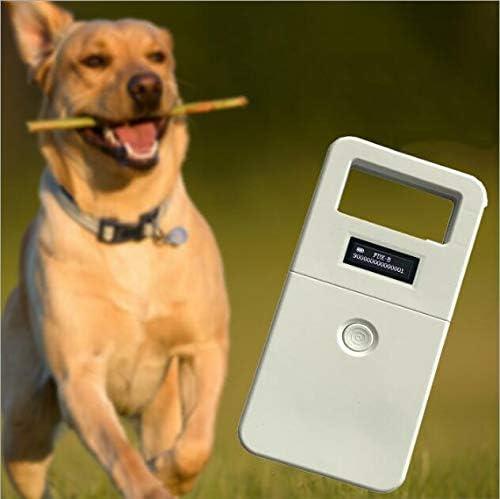 Chipleseger/ät f/ür Hunde Tierkennzeichnung Chip Leser ISO FDX-B Animal Chip Reader RFID 134,2 kHz Tierchip Leseger/ät Haustierchips Transponder Mikrochip Reader mit hoher Helligkeit OLED-Display