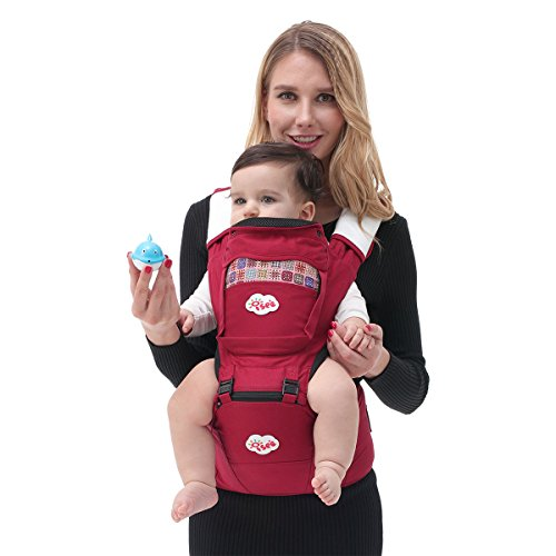 iSee Baby Carrier, Carriers Hipseat Backpack, 6 positions Front Facing Carrier Baby for Newborn