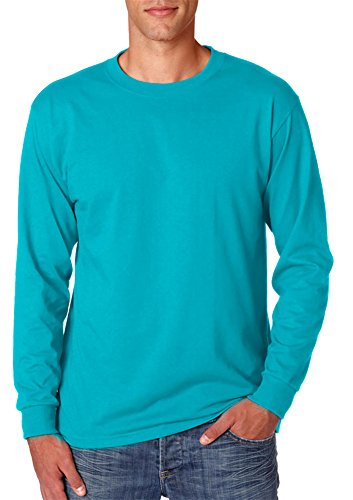 Jerzees mens 5.6 oz. 50/50 Heavyweight Blend Long-Sleeve T-Shirt(29L)-CALIFORNIA BLUE-XL