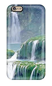 Rugged Skin Case Cover For Iphone 6- Eco-friendly Packaging(waterfall)