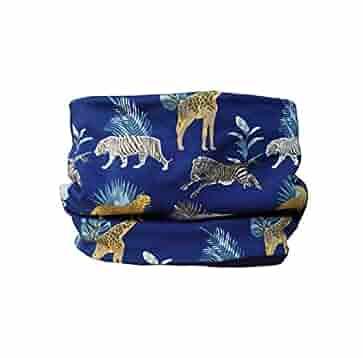 Braga cuello polar para niños con Animales Salvajes en azul ...