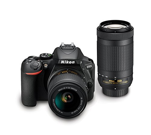 Nikon D5600 DSLR Camera with AF-P DX NIKKOR 18-55mm f/3.5-5.6G VR & AF-P DX and NIKKOR 70-300mm f/4.5-6.3G ED