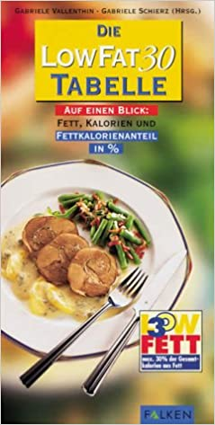 Book Die Low Fat 30 Tabelle