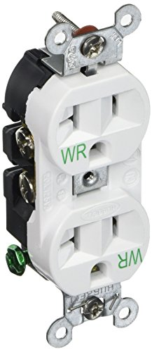 Hubbell 5362WWR Weather Receptacle, Duplex, Hubbell-Pro, 20A, 125V, ()