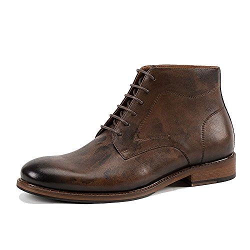LYZGF Chaussures Décontractées à Lacets pour Hommes Blackcoffeecolor