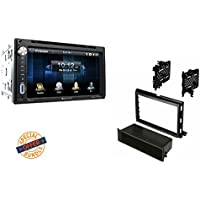 Soundstream Double Din VR-651B DVD/CD/MP3 Player 6.5 LCD Display Bluetooth W/ 2007-2008 F-150 CAR STEREO CD PLAYER RADIO INSTALLATION DASH KIT W/ WIRE HARNESS