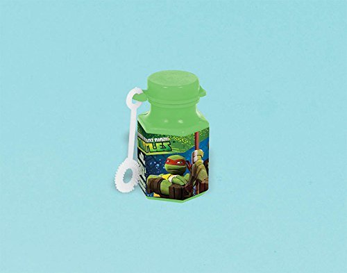 Amscan Awesome TMNT Mini Bubbles Birthday Party Favors, 0.6 oz, Green by Amscan