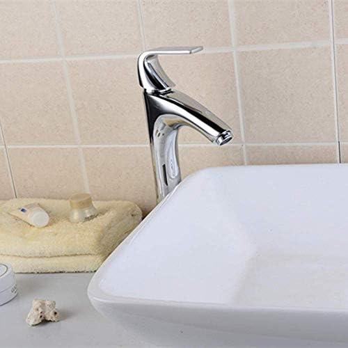 Yadianna バスルームのシンクは、スロット付き浴室の洗面台のシンクホットコールドタップミキサー流域の真鍮シンクミキサータップ非震とう浴室蛇口ホットとコールド洗面台の蛇口の細かい銅バルブボディの蛇口をタップ
