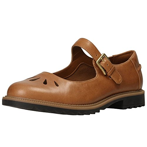 Clarks Casual Mujer Zapatos Griffin Marni En Piel Marrón Marrón