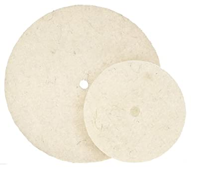 Walter Quick-Step Felt Discs - (Pack of 5) High Density Merino, Cotton Polishing Disc. Polishing/Finishing Accessories