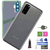 Galaxy S20 Back Glass Replacement Back Cover Glass Housing Door with Camera Lens and Pre-Installed Tape for Samsung Galaxy S2