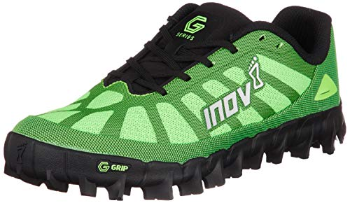 Inov-8 Mudclaw G 260 - Trail Running OCR Shoes - Super Durable - Soft Ground - for Obstacle, Spartan Races and Mud Running - Green/Black 12 M US
