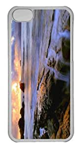 Customized iphone 5C PC Transparent Case - Common Sunset Personalized Cover by lolosakes