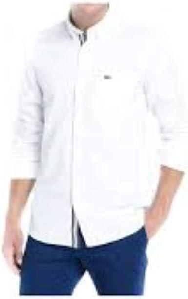 Lacoste Camisa CH1226 Blanco Hombre 44 001: Amazon.es: Ropa y accesorios