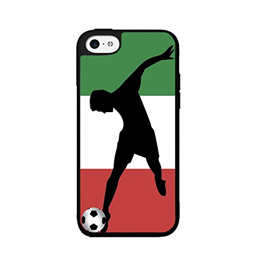 World Cup Italy Soccer TPU RUBBER SILICONE Phone Case Back Cover iPhone 4 4s includes BleuReign(TM) Cloth and Warranty Label