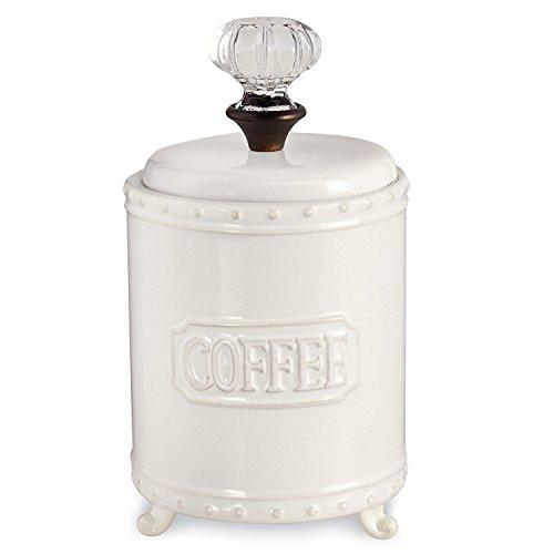 Mud Pie ceramic Coffee Canister Door Knob Handle, White from Mud Pie
