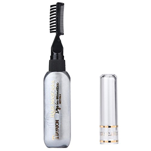 SMYTShop Professional Temporary instant Hair Color Dye Mascara Highlights Streaks Touch Up Non-toxic DIY Hair Dye Pen (Gray)