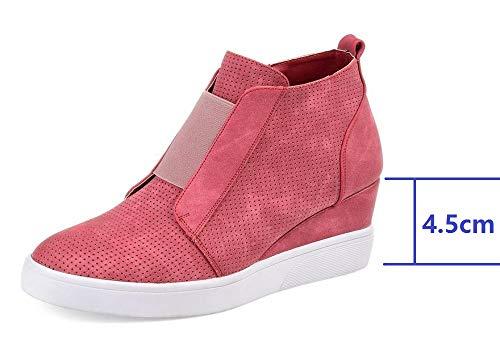 Pelle Donna 4 Da 43 Zeppa Sneakers Eleganti Cachi Rosa 34 5cm Blu Scarpe Con Ankle Ginnastica Tacco Mocassini Stivaletti Zip Boots In OwXdvv