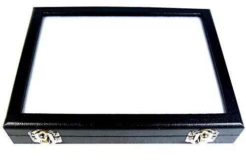 TOP GLASS GEMSTONE GEM DISPLAY BOX SHOW CASE 15x20 CM (5.9X7.8 INCH) COIN DIAMOND JEWELRY