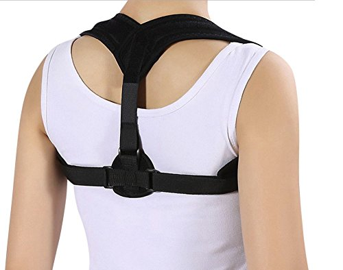 Posture corrector brace for women men-support back relief and upper pain-clavicle shoulder brace comfortable and adjustable-improve discreet design kyphosis thoracic-Size 25-50 inches+Bonus Toner Cord