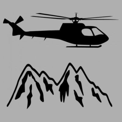 Sudadera con capucha de mujer Mountain Rescue Helicopter by Shirtcity Gris granulado