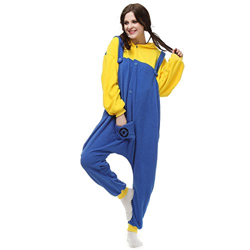 Festival Costumes Kigurumi Despicable Me Minions Onesie Size The US XL Yellow]()